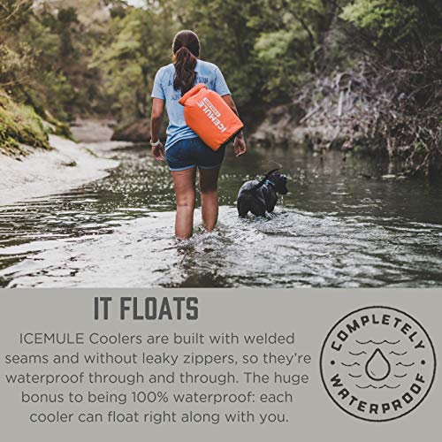 ICEMULE Classic Insulated Backpack Cooler Bag - Hands-Free, Collapsible, and Waterproof, This Portable Cooler is an Ideal Sling Backpack for Hiking, The Beach, Picnics and Camping-Medium, Blaze Orange