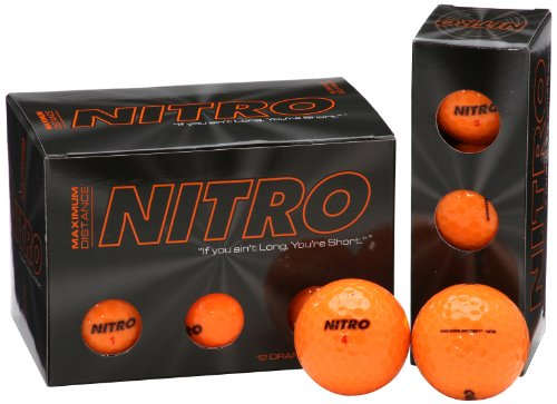 Nitro NMD12OBXC  Maximum Distance Golf Ball (12-Pack), Orange