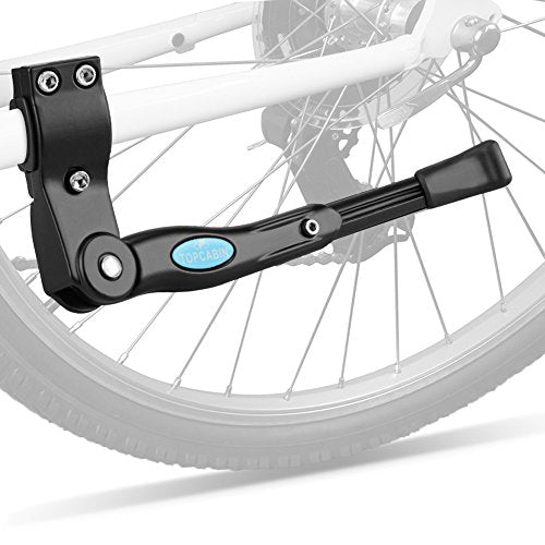 "TOPCABIN Bicycle Adjustable Aluminium Alloy Bike Bicycle Kickstand Side Kickstand Fit for 22"" 24"" 26""- Black"