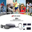 Image of RIVBOS Polarized Sports Sunglasses Driving Sun Glasses Shades for Men Women Tr90 Frame for Cycling Baseball Running Rb831 Black&Grey