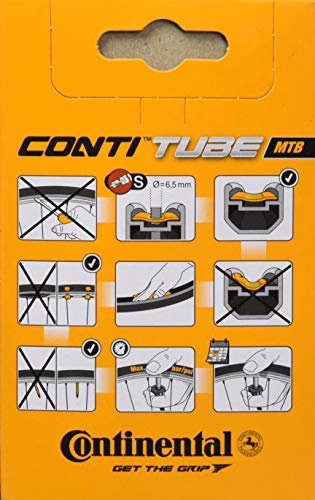 Continental 42mm Presta Valve Tube, Black, 700 x 20-25c
