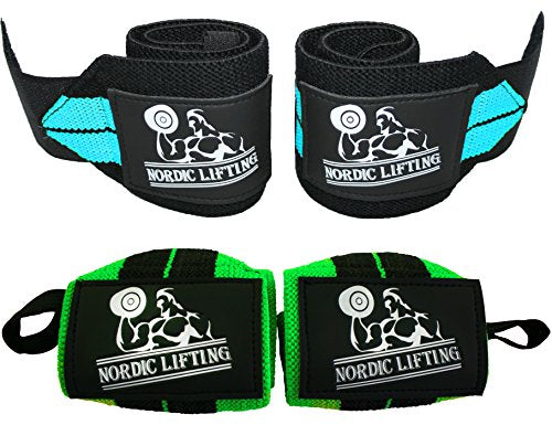 "Wrist Wraps (2 Pairs/4 Wraps) 14"" for Weightlifting 