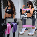 Image of Belus Resistance Bands with Carry Bag, Video Download and eBook. Set of Four Resistance Loop Bands for Exercise and Fitness - Resistance Bands for Legs and Butt - Booty Bands - Pink and Purple
