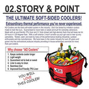 Image of AO Coolers Original Soft Cooler with High-Density Insulation, Royal Blue, 48-Can