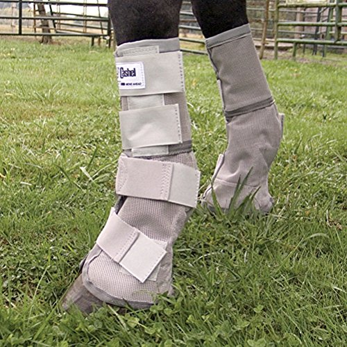 Cashel Crusader Horse Fly Protection Leg Guards, Set of Four, Grey, Mini/Foal