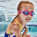 Image of Speedo Unisex Child Swim Goggles Skoogle Ages 3   8, Blue Ocean, One Size
