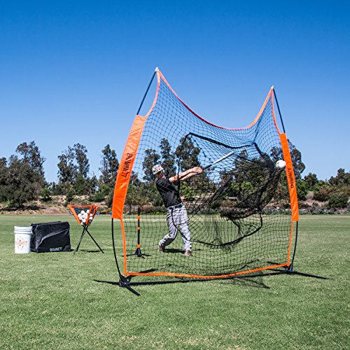 Bownet 7' x 7' Big Mouth X - Portable Sock Net for Baseball and Softball Hitting and Pitching