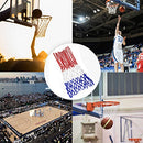 Image of NKTM Professional 2 PCS Basketball Net All-Weather Heavy Duty Outdoor Net (12 Loops)