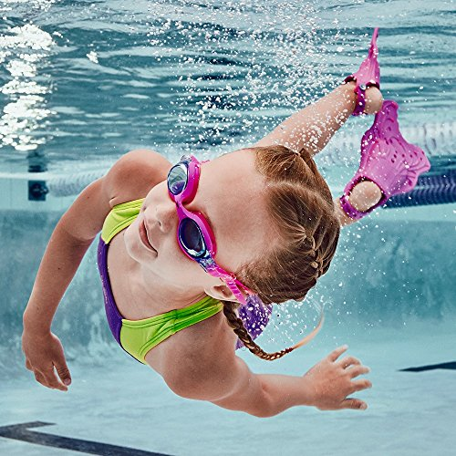 Speedo Unisex Child Swim Goggles Skoogle Ages 3   8, Bright Pink, One Size
