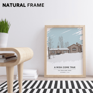 "Custom Home Portrait (Print) Gelato Small (8"" x 10"") Natural"