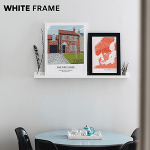 "Custom Home Portrait (Print) Gelato Small (8"" x 10"") White"