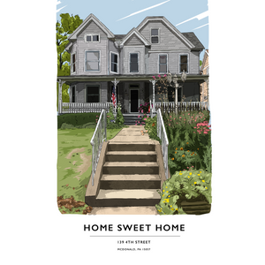 Custom Home Portrait (Digital File)