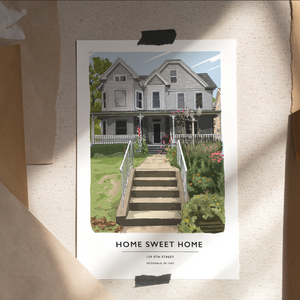 Custom Home Portrait (Print)