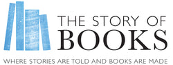 The Story of Books logo - where stories are told and books are made