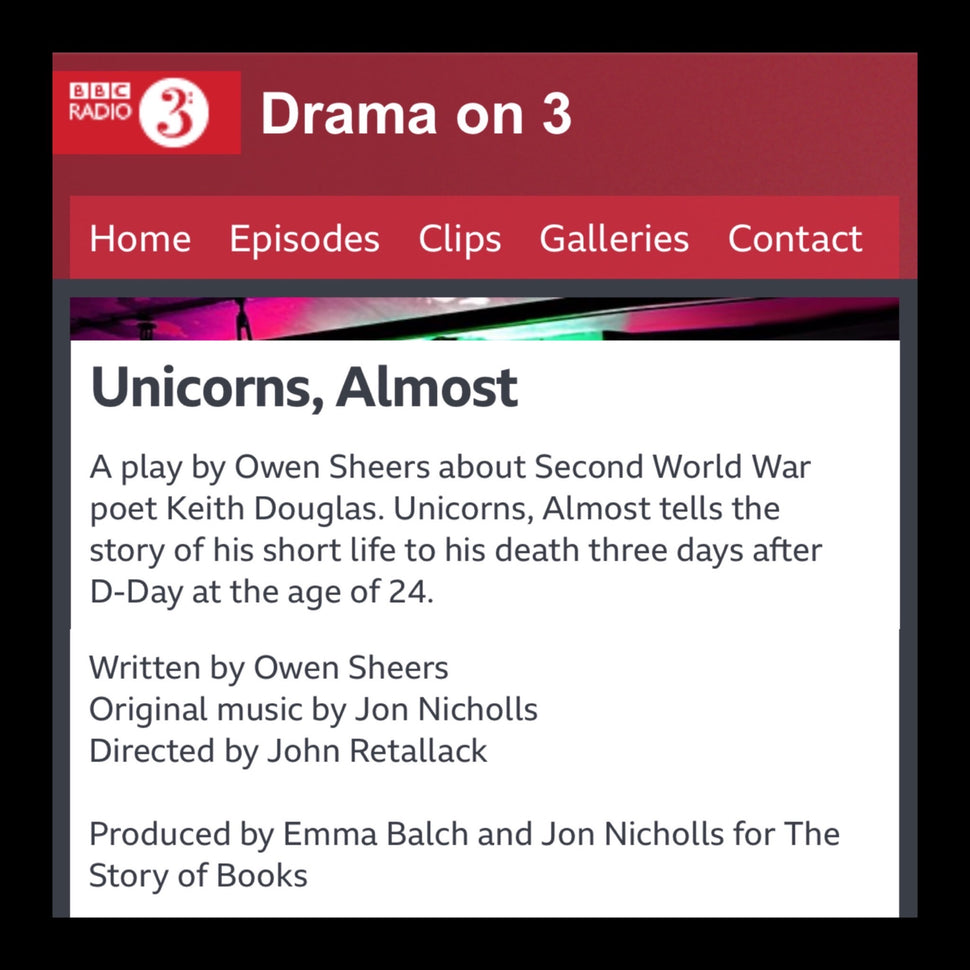 Listen to Unicorns, Almost produced by The Story of Books on BBC Sounds (BBC Radio 3)