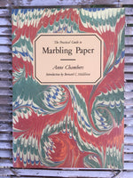 The Practical Guide to Marbling Paper by Anne Chambers (sent with a leather pocket notebook)