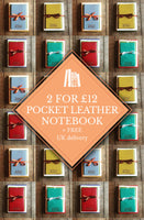 TWO POCKET LEATHER NOTEBOOKS FOR £12