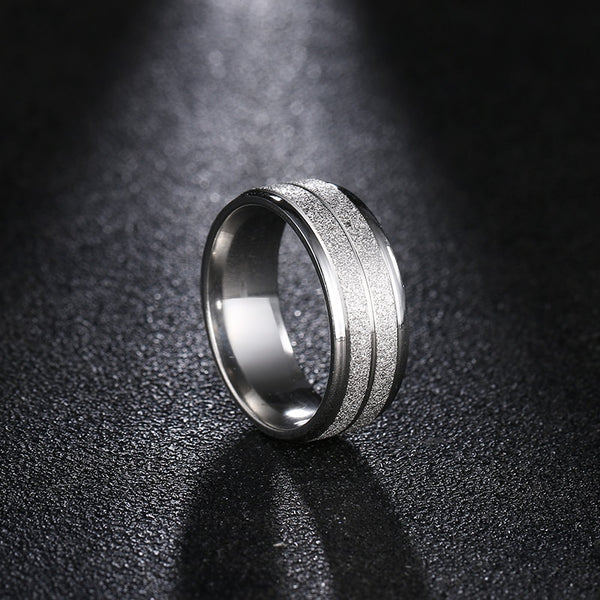Fashion Stainless Steel Gold Ring
