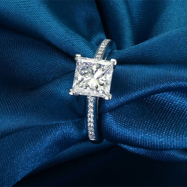 Trendy Cubic Zirconia Silver Ring