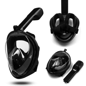 Snorkel Mask - Full Face Snorkeling and Diving Mask with 180 Degrees Panoramic Viewing