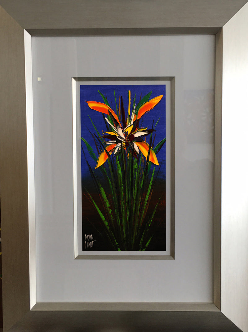Title: Tropical Bloom (Blue), 128-16, Size: 35.5 x 18 cm.
