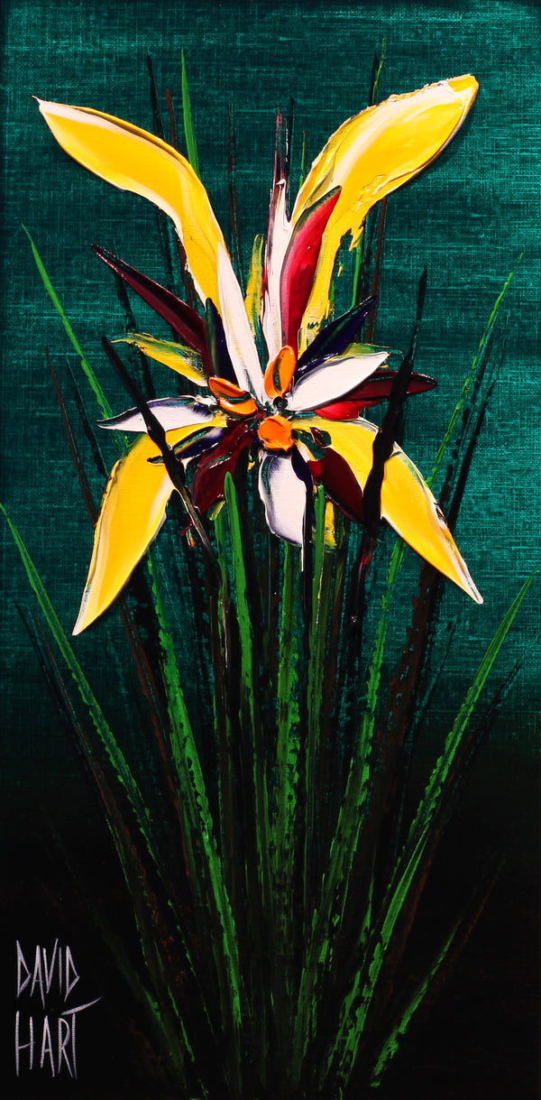 Title: Tropical Bloom (Green), 44-17, Size: 35.5 x 18 cm.