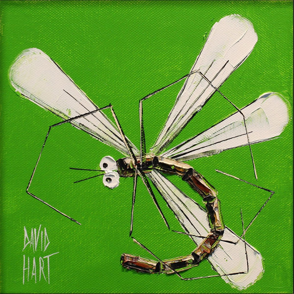 Title: Dragonfly (Lime) 60-19, size 20 x 20 cm.