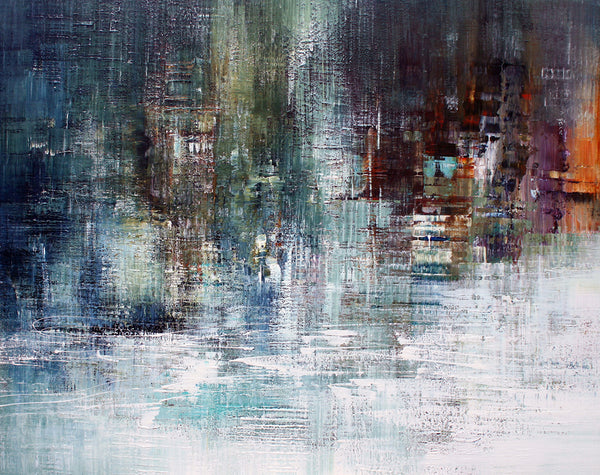 Title:  Abstract 4, size 150 x 120 cm.