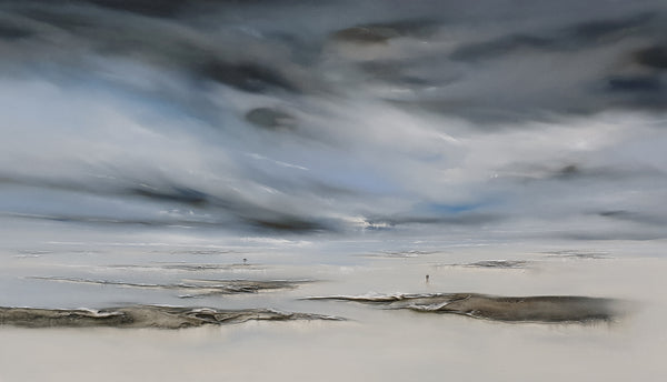 Title: Beyond the Horizon, size 80 x 140 cm.