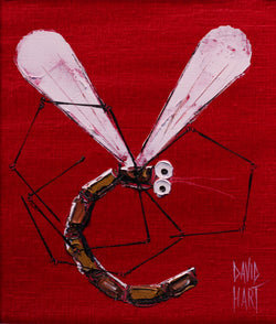 Title: Dragonfly (Red), 55-17, size 21 x 18 cm.