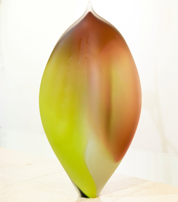 Title: Autumn Leaf Sculpture, 36 cm High.