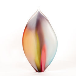 Title: Pastel Leaf Sculpture, 36 cm High.