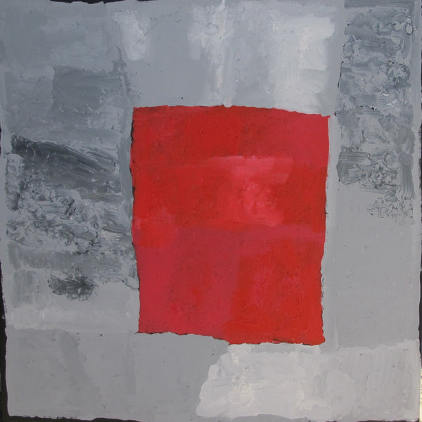 Title:  My Country (grey/red), size 150 x 150  cm.
