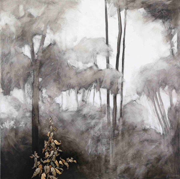 Title: Jewels in the Mist 1, size 90 x 90 cm