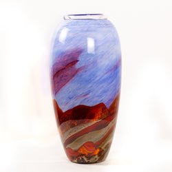 Title: Outback Oval Vessel, 50 cm H x 17 cm Diam.