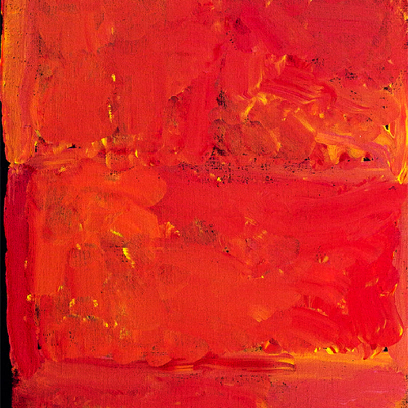 Title:  My Country (red/yellow), size 158 x 53 cm.