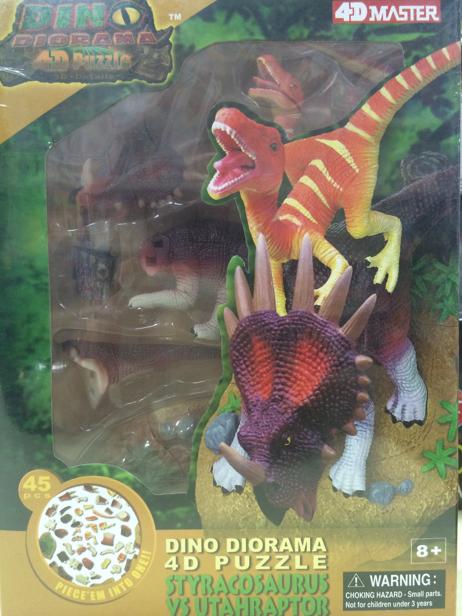 Science kits righttolearn 4d famemaster diy dino diorama styracosaurus vs utahraptor righttolearn solutioingenieria Gallery