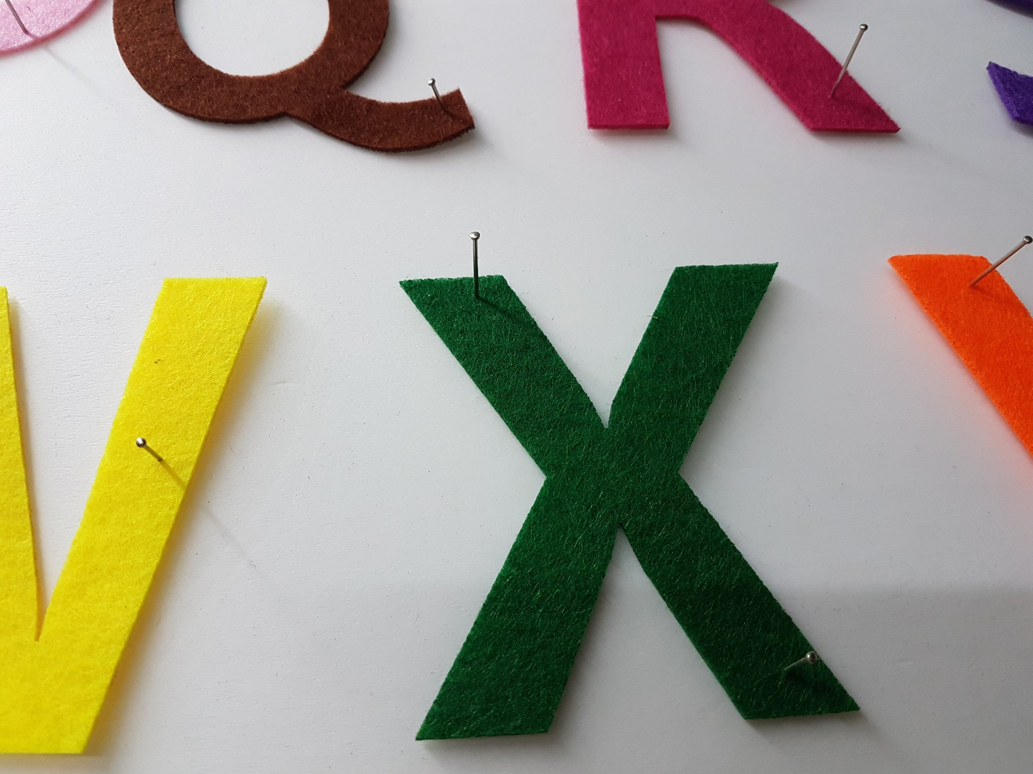 felt uppercase alphabet cut outs righttolearncomsg With felt cut out letters