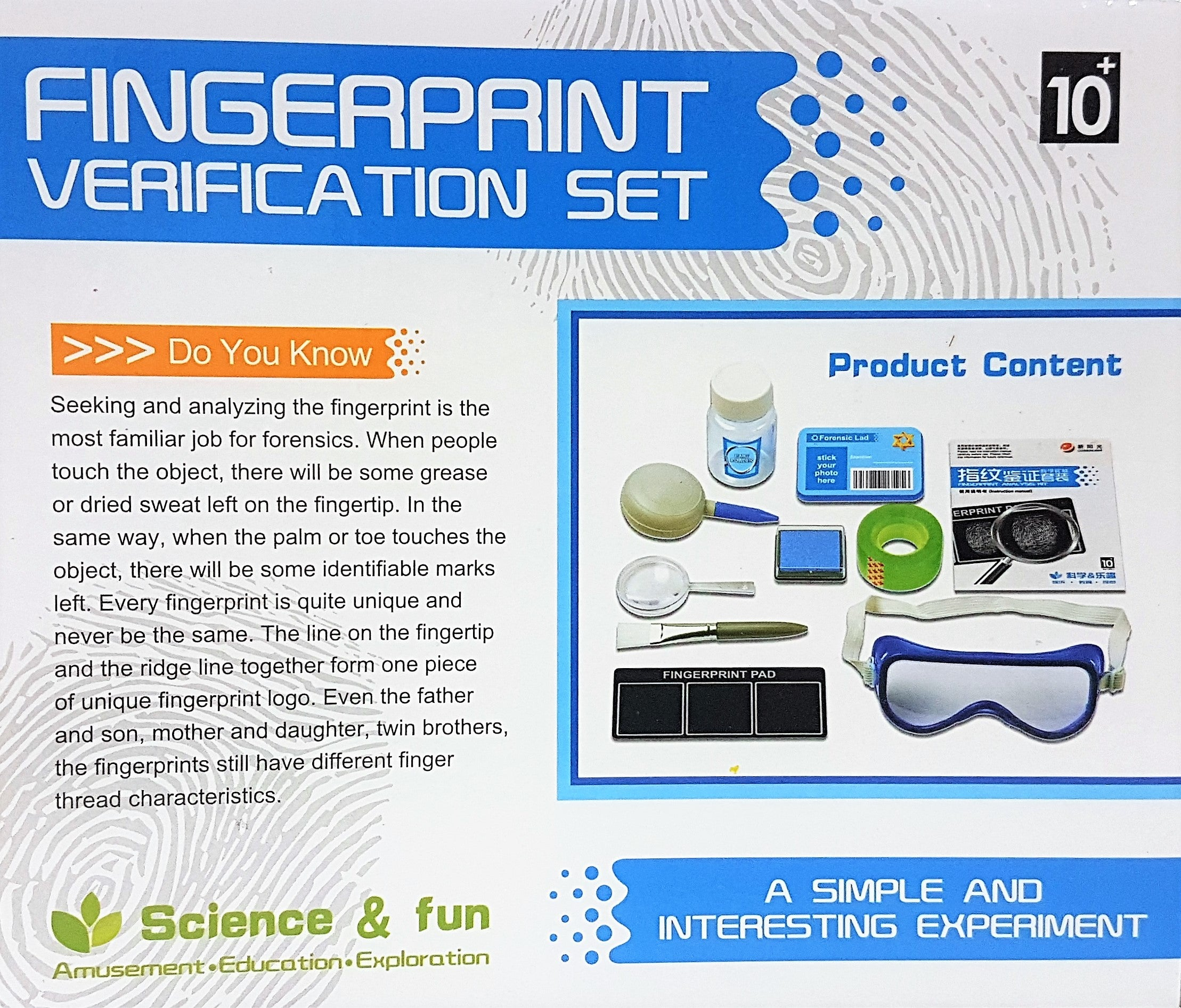 Science Kits Page 2 And Conductivity Kit 25 Electricity Fingerprint Verification Set