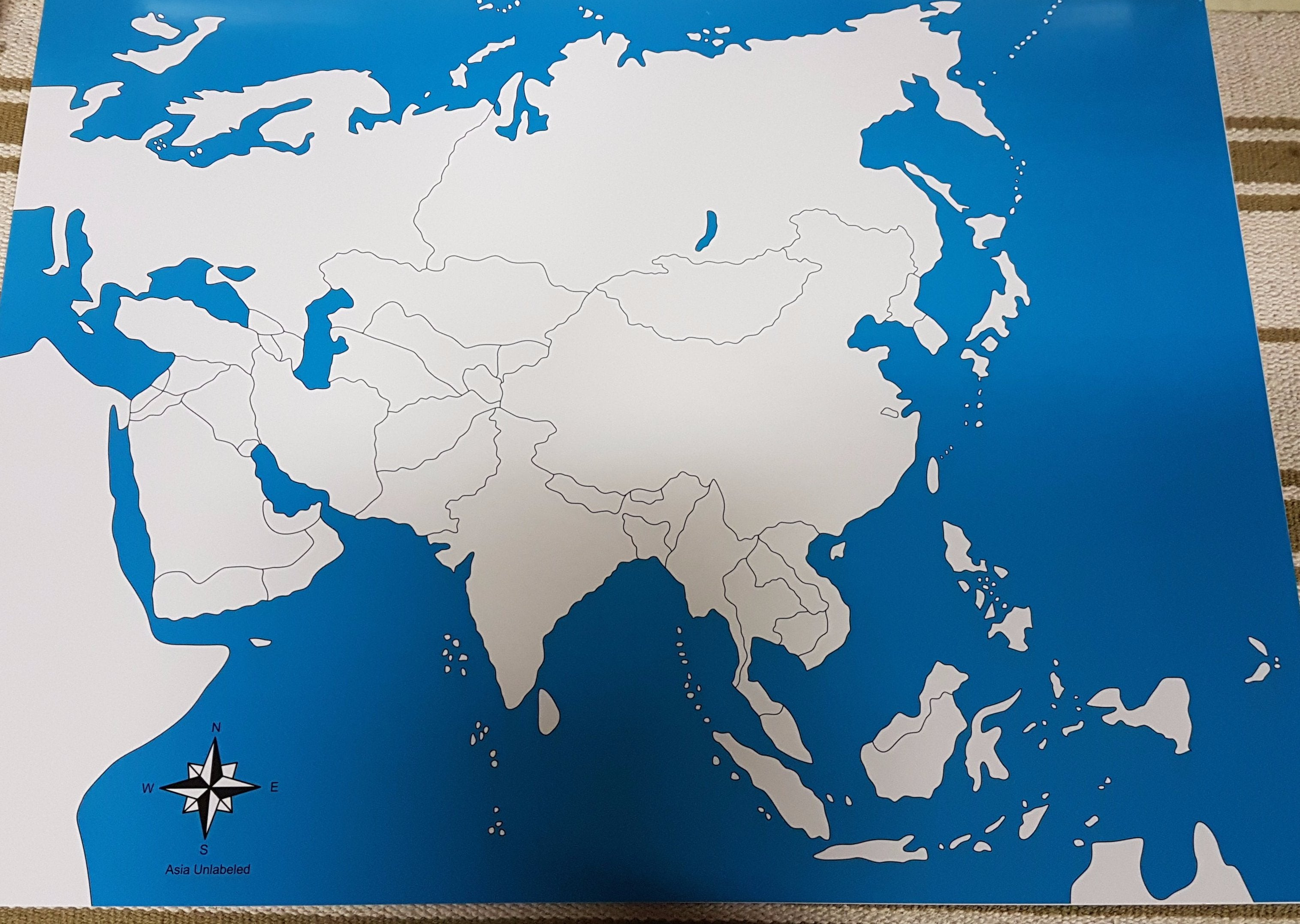 Cultural righttolearn labelled and unlabeled asia map gumiabroncs Choice Image