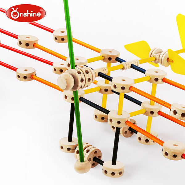 Teenagers Team Building Toys : Onshine wood match building blocks set righttolearn sg