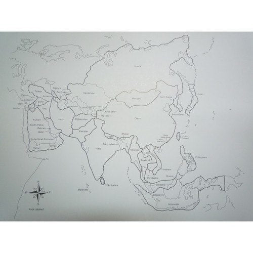 And Unlabelled Map Asia RightToLearncomsg - Unlabelled map