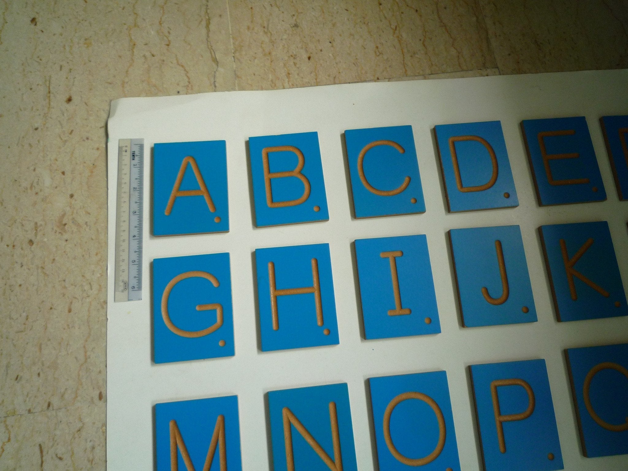 Montessori Letters/ Numbers/ Dots/ operation Symbols Tracing Tiles ...