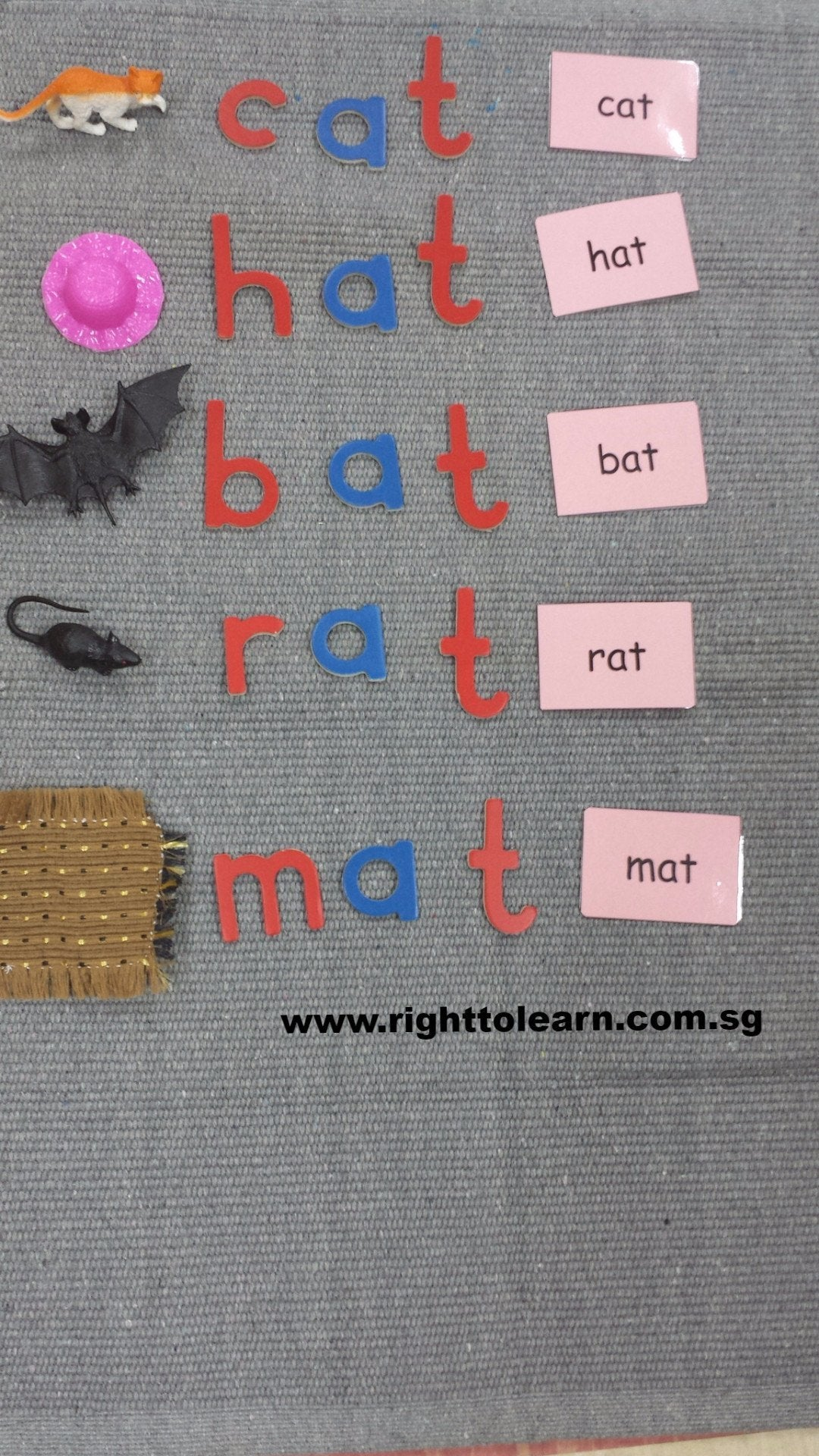 Montessori Package Word Family At Object Box With