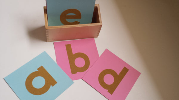 box letter alphabet sandpaper alphabet lowercase letters mounted on cards 20672 | language sandpaper alphabet lowercase letters mounted on cards with box 1 grande