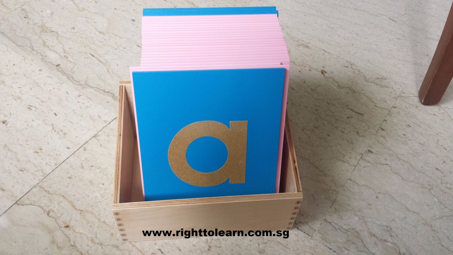 Sandpaper Alphabet Lowercase Letters Wood with box
