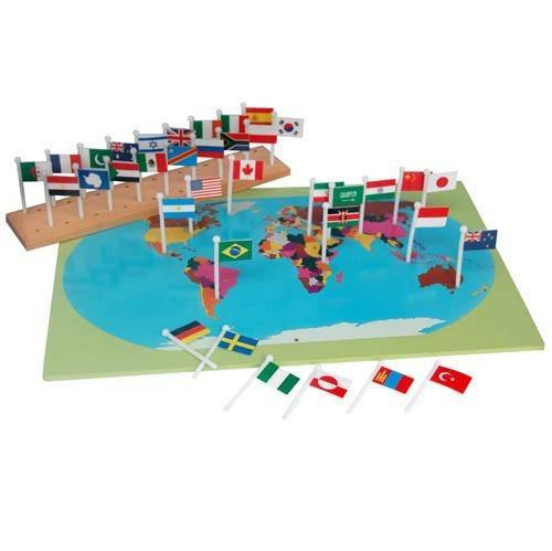 Montessori map with world flags righttolearn montessori map with world flags righttolearn 1 gumiabroncs Images