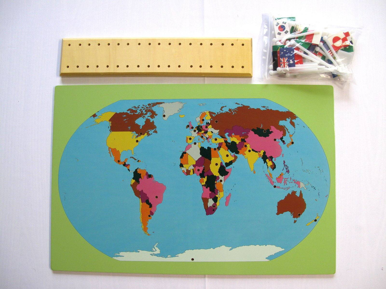 Map Of World Flags.Montessori Map With World Flags Righttolearn Com Sg