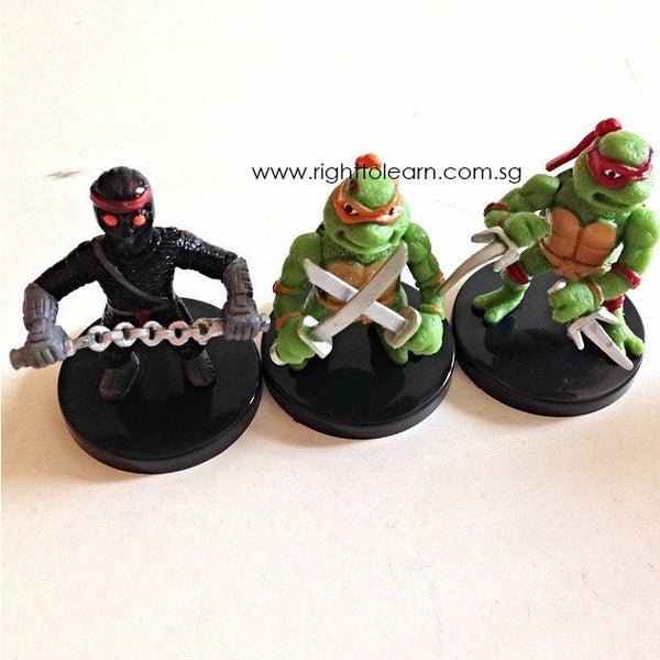 Ninja Turtles Action Characters - 6 Figurines - Cake ...