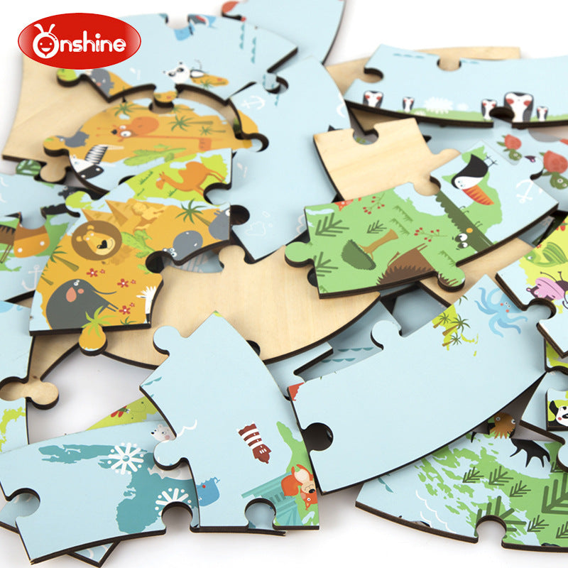 Onshine wooden jigsaw puzzle world map righttolearn onshine wooden jigsaw puzzle world map gumiabroncs Gallery